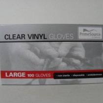 Clear Vinyl Gloves 100 Pack Large