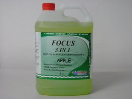 Focus 3 in 1 Disinfectant-Cleaner-Deodoriser Apple  5 Litres