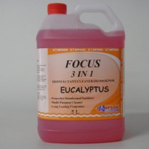 Focus 3 in 1 Disinfectant-Cleaner-Deodoriser Eucalyptus 5 Litres