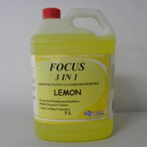 Focus 3 in 1 Disinfectant-Cleaner-Deodoriser Lemon 5 Litres