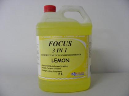 Focus 3 in 1 Disinfectant-Cleaner-Deodoriser Lemon 5 Litres