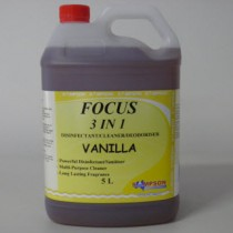 Focus 3 in 1 Disinfectant-Cleaner-Deodoriser Vanilla 5 Litres