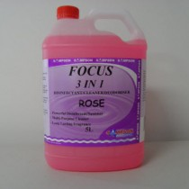 Focus 3 in 1 Dsinfectant-Cleaner-Deodoriser Rose 5 Litres