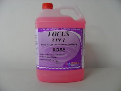 Focus 3 in 1 Dsinfectant-Cleaner-Deodoriser Rose 5 Litres