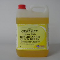 Grot Off Heavy Duty Degreaser Detergent-Cleaner Removes Grease & Oil