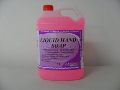 Liquid Hand Soap With Coconut Oil Derivatives 5 Litres