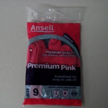 Premium Pink Rubber Latex Gloves Size 9