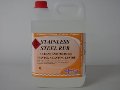 Stainless Steel Rub Cleans & Polishes 5 Litres